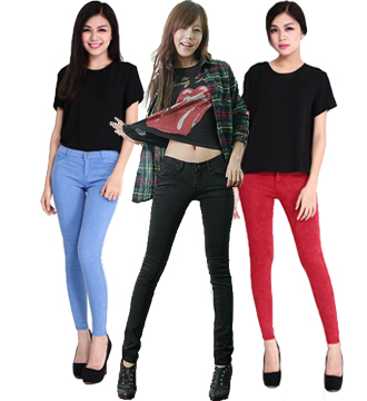 Quần Skinny Jean nữ color NP454